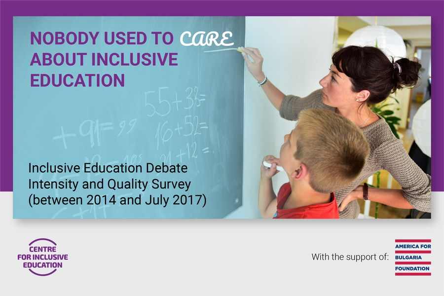 Inclusive Education Debate - Intensity and Quality Survey 2014 - July 2017